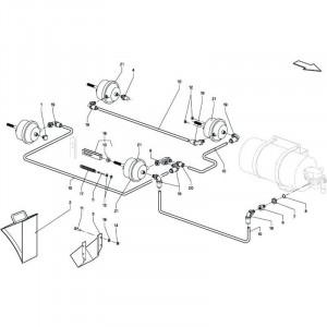 019 Pneumatische rem tandem passend voor DEUTZ-FAHR BigMaster 5712