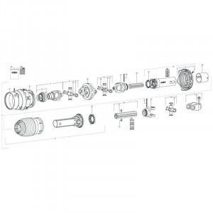 020 Pneumatische rem tandem passend voor DEUTZ-FAHR BigMaster 5712
