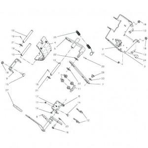 023 Vliegwiel mechanische rem passend voor DEUTZ-FAHR BigMaster 5712