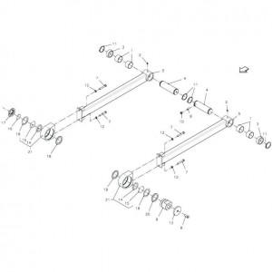025 Plunjer, aandrijving passend voor DEUTZ-FAHR BigMaster 5712