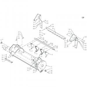 034 Frame rotor passend voor DEUTZ-FAHR BigMaster 5712