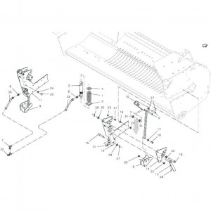 039 Opraper stuurinrichting passend voor DEUTZ-FAHR BigMaster 5712
