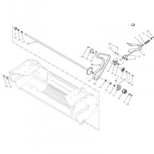 040 Aandrijving rotor passend für DEUTZ-FAHR BigMaster 5712
