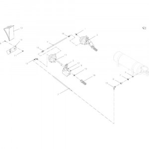 013 Pneumatische rem passend voor DEUTZ-FAHR BigMaster 5712