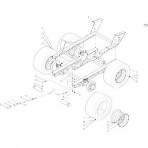 014 Frame regelmatig draaistel passend voor DEUTZ-FAHR BigMaster 5712