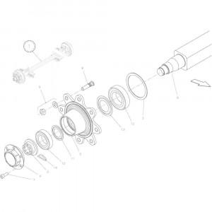 016 Vaste as passend voor DEUTZ-FAHR BigMaster 5712
