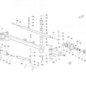 018 Stuurinrichting regelmatig draaistel passend voor DEUTZ-FAHR BigMaster 5712