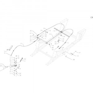 019 Parkeerrem tandem passend voor DEUTZ-FAHR BigMaster 5712