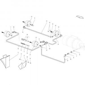 021 Pneumatische rem tandem passend voor DEUTZ-FAHR BigMaster 5712