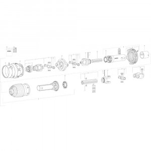 022 Pneumatische rem tandem passend voor DEUTZ-FAHR BigMaster 5712
