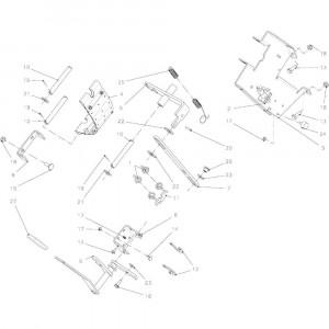 025 Vliegwiel mechanische rem passend voor DEUTZ-FAHR BigMaster 5712