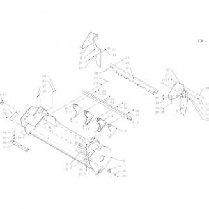036 Frame rotor passend voor DEUTZ-FAHR BigMaster 5712
