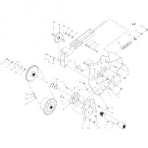 038 Riemspanner 96 inch passend voor DEUTZ-FAHR BigMaster 5712