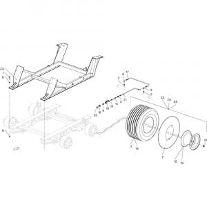 024 Frame ogie passend voor DEUTZ-FAHR GP 120