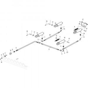 030 Remmen tandem passend voor DEUTZ-FAHR GP 120