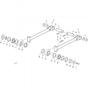 035 Aandrijfas passend voor DEUTZ-FAHR GP 120
