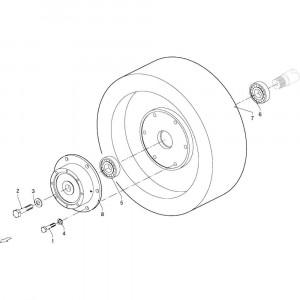041 Vliegwiel passend voor DEUTZ-FAHR GP 120