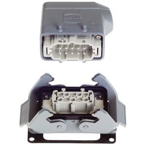 Harting Complete stekkerset inbouw 10P - HANKIT10BP | Schroefaansluiting | Aluminium / Polycarbonaat