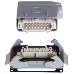Harting Complete stekkerset inbouw 16P - HANKIT16BP | Schroefaansluiting | Aluminium / Polycarbonaat