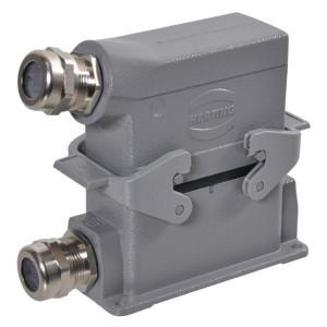 Harting Complete stekkerset opbouw 16P - HANKIT16BS | Schroefaansluiting | Aluminium / Polycarbonaat