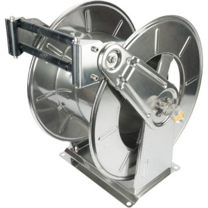 "Ramex Autom. slanghaspel RVS - HD3503 | Zelfoprollend | Slang niet meegeleverd | 80 bar | 90 °C | RVS AISI 304 | Buitendraad 1"" in | 390 mm | 295 mm | 280 mm | 263 mm | 315 mm | 120 mm | 107 mm | 700 mm | 540 mm | 295 mm | 310 mm | 580 mm | 250 mm | 1 Inc"