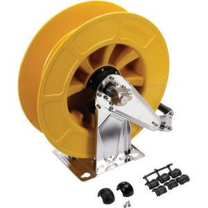 "Autom. slanghaspel, geel - HD43430 | Slang niet meegeleverd | 300 bar | 150 °C | 420 mm | 186 mm | 460 mm | Binnendraad 1/2"" | Binnendraad 1/2"" uit"