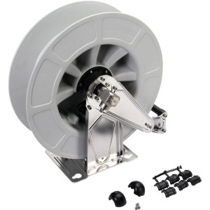 "Autom. slanghaspel, grijs - HD43431 | Slang niet meegeleverd | 300 bar | 150 °C | 420 mm | 186 mm | 460 mm | Binnendraad 1/2"" | Binnendraad 1/2"" uit"