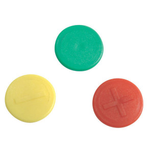 Faster Gekleurde clip groen + - IDVP   Plus (+)