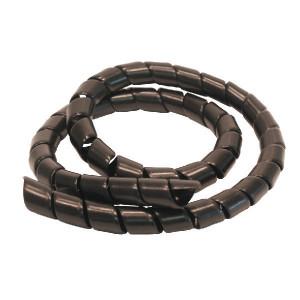 Safeplast Veer kunststof zwart 9-13 25m - KBV10ZP025 | PE (polyetheen) zwart | 12 mm | 1,2 mm | 10,0 mm | 10,5 mm