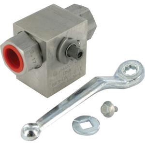 Dicsa 3-Wegkraan L-Plug 1/2 BSP RVS - KH3KSR08RVS | Roestvaststaal | L-boring | 1/2 BSP | 400 bar | KH 913.10 | KH 909
