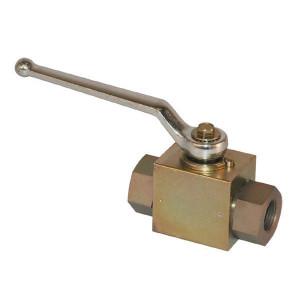 Pister Kogelkraan 1 1/4 - KHR20 | Geel gepassiveerd | 1 1/4 BSP | 121 mm | 350 bar | 26,5 mm | KH 914 | KH 932.10