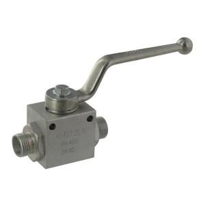 Gopart Kogelkraan 04 - KHS08LN | Geel gepassiveerd | 8 mm | M14 x 1,5 | 500 bar | 4,5 mm | 13,5 mm | 4,8 mm | 31,5 mm