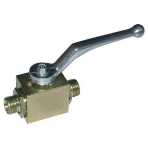 Pister Kogelkraan 12S - KHS12S | Kogel. | Geel gepassiveerd | 12 mm | 500 bar | 43,5 mm | KH 909 | KH 908.10