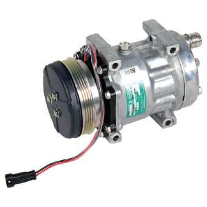 Sanden Compressor - KL000115 | 87519620 | Sanden SD7H15 | 190 cc | 119 mm | Poly V 4