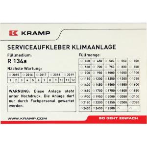 Sticker controle airco - KL070900 | 10 Stuks | 96x66mm