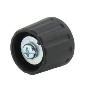 Draaiknop Ø21mm, as 6mm, zwart - KNOP210