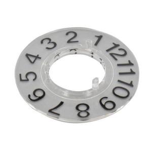 Dialtype 1-12 v draaiknop 21mm - KNOP210D