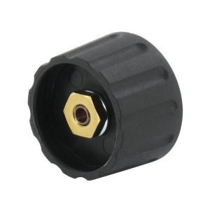 """Draaiknop Ø28mm, as 1/4"""", zwart - KNOP280"""