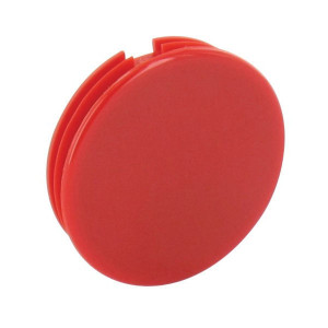 Afdekkap rood Ø28mm - KNOP280K