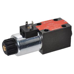 Stuurventiel elektrisch NG6 - KREV03B3012C | Elektromagnetisch bediend | Max. 80 l/min | 40,5 mm | 32,5 mm | 12V DC V