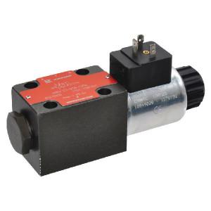 Stuurventiel elektrisch NG6 - KREV03B3S230A | Elektromagnetisch bediend | Max. 80 l/min | 40,5 mm | 32,5 mm | 230V AC V