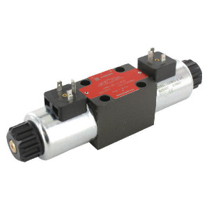 Stuurventiel elektrisch NG6 - KREV03C2012C | Elektromagnetisch bediend | Max. 80 l/min | 40,5 mm | 32,5 mm | 12V DC V