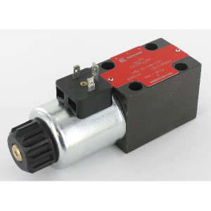 Stuurventiel elektrisch NG6 - KREV03C4B012C | Elektromagnetisch bediend | Max. 80 l/min | 40,5 mm | 32,5 mm | 12V DC V