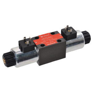 Stuurventiel elektrisch NG6 - KREV03C6012C | Elektromagnetisch bediend | Max. 80 l/min | 40,5 mm | 32,5 mm | 12V DC V