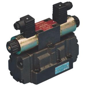 Stuurschuif elek KREV-07-C2- - KREV07C2230A | 215 mm | 100 mm | 157 mm | 144 mm | 204 mm | A 230 V | 300 l/min | 140 bar | 320 bar max | 34,5 mm