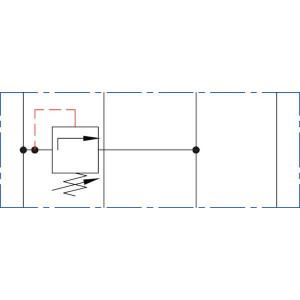 Drukregelventiel NG6 A > T - KRMRF03A3 | Voorgestuurd | Drukbeveiligd | Max. 60 l/min | 20-210 bar