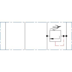 Drukregelventiel NG6 B > T - KRMRF03B3 | Voorgestuurd | Drukbeveiligd | Max. 60 l/min | 20-210 bar