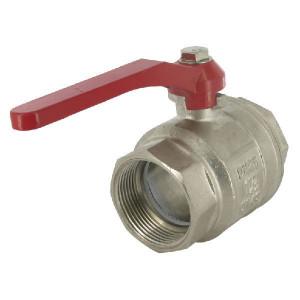 "Kogelkraan BSP bi/bi 1 1/2"" - KS112F | 25 bar | Aluminium | 16,5 mm | 16,5 mm | 140 mm | 1 1/2"" Inch"