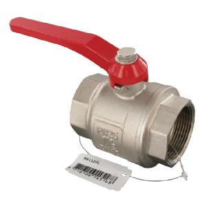 "Kogelkraan BSP bi/bi 1 1/2"" - KS112FL | 25 bar | Aluminium | 16,5 mm | 16,5 mm | 140 mm"