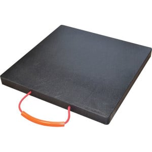 LuxTek Kunststof stempelplaat - KSP60606PE1000 | Voorzien van een handvat | 600 mm | 600 mm